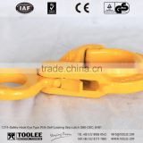 1214-Eye Safety Hook with Grip for double safety/ chain sling hook With Self-Locking Latch G80