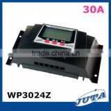 30A New WP3024Z PWM Battery Charging Solar Regulator 12V 24V with Timer Control and Backlight