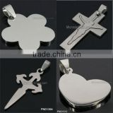 Made In China high quality 2015 New Jewelry 202L Wholesale Hot Jewelry Cross Stainless Steel Pendant