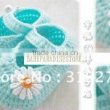 JPshoes045 - Baby wool shoes baby child cute flowers for 0-10M baby cotton knitted shoes