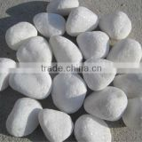 hot sale cheap garden white marble pebble polished pebble