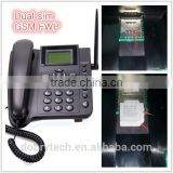 NEW Dual sim card GSM FWP fixed wireless phone 850/900/1800/1900MHZ with removable antenna battery radio
