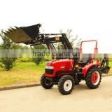 Hot sale DQ304 30HP 4WD small Garden tractor with TZ-3 Front end loader and LW-6 Backhoe