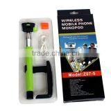HIGI mini monopod for action camera with bluetooth shutter button for iPhone 4 4s 5 5s 5c 6 6 Plus, Samsung etc