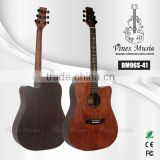 Factory price korean vintage color solid top acoustic guitar