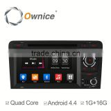 7 inch android 4.4 quad core headrest dvd player for Audi A3 S3 with mirror link OBD 16G rom