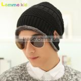Cap for men autumn winter plus velvet thick knitted cap wool cap tide winter outdoor fashion cap
