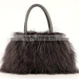 New Stylish Real Winter Mongolian Lamb Fur Bag for Luxurious Women with Cheap Price Fur Bag