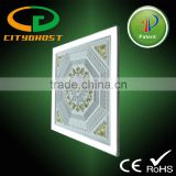 48w 600x600 2x2 invisible led light panel with artistic ceiling plaster for Middle east market