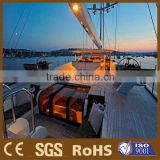 teak color water-proof plastic wood solid yacht and sailing boat decking