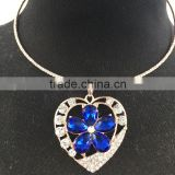 accessories for women crystal necklace, crystal pendant necklace, crystal heart necklace