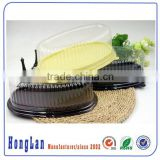 disposable customized blister cake package/cake box/clear plastic clamshell/blister cake containers