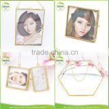 hot sex girl picture photo display art hanging circle pendants => 20 30 40mm brass glass round frame