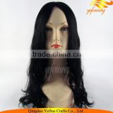 Jet Black Curl Chinese Virgin Human Hair Jewish Human Wig With Rabi Certification
