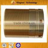 Hot sale copper bushing , lathe turned parts, precision cnc thread sleeve