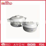 Different size food storage containers ceramic-like melamine custom plastic bowl with handle