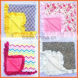 Soft feel Eco-friendly blanket for newborn baby plain flannel fleece children blanket with low price