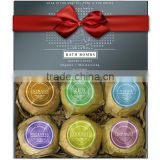 MELAO Naturals Bath Bombs Holiday Gift Set - 6 X 4.1 Oz