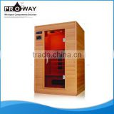 Home Use Dry Steam Soft Heat Infrared With COntrol Panel Wood Steam Sauna Room