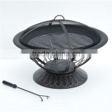 "30"" Round Backyard Patio Grill Firepits"