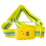 Yellow 2m Travel 3-Dial Combination TSA Lock Luggage Suitcase Secure Strap Belt