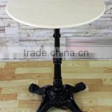 European antique style marble top quality cast iron base hotel bar table