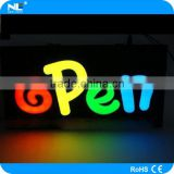 Newlight, acrylic billboard backlit led open sign / sign board display for bars/cafes/restaurants advertising and promotion