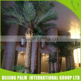 Outdoor Artificial Poinsettia Plant Date Palm Trees With Lights Decorative Artificial Plant