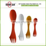 Food grade material PP spork in high quality spoon, fork and knife 3 in 1