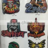 P003-002 to 007 Iron On, Stick on Fabric Skeleton Motifs Craft Sewing Embroidery Unique Patches Applique