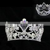 Wholesale Rhinestone Pageant Crown Accessories for Crystal Hair Accessories Jewelry Tiara