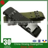 Military Army customizable Uniform green black camouflage belt with iron or bronze buckle