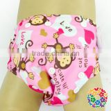 New Fashion Pink Color Baby Diaper Cover Bloomers Monkey Designs Kids Bloomers Soft Baby Adjustable Bloomers Wholesale