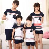 PJ0166A family matching clothing Parent-hcild Casual Outfit Family Clothing Short Sleeve Cotton T-shirt Family Clothing Sets