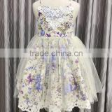 Factory baby frock design pictures Wholesale kids clothing Floral girl tutu party dress