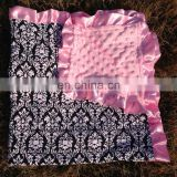 China factory wholesale soft beautiful baby knitted blanket