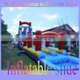 2-lane inflatable slip slide with water pool