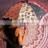 Indian Patchwork Mandala Design Sun Protection Umbrella Small Parasole Wholesaler