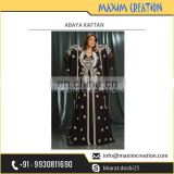 Superior Online Store Selling Islamic Abaya Kaftan with Stunning Embroidery Work on it