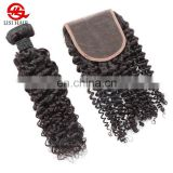 Cheap Price Unprocessed Brazilian Remy Hair 4*4 Lace Closure With Natural Baby Hair