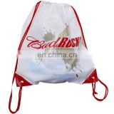 Waterproof 100% Polyester Drawstring Bag/drawstring bag custom