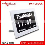 Hot sell High definition digital big screen led day date calendar clock for elder
