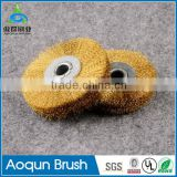 Elaborate brass shaft nylon abrasive and steel wire brushes/ filament for nylon abrasive brush