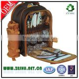2015 oem cheap designer oxford picnic backpack bag set