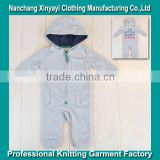 Wholesale 80 cotton 20 polyester Zip Up Baby Romper for Infant/Toddler Clothes From China