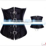 SEXY Lady Full Spiral Steel Boned Corset Bustier Lace up Overbust Body Shaper
