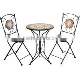 Mosaic coffee table set outdoor bistro set