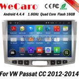 Wecaro WC-VU1011 Android 4.4.4 car dvd player quad core for volkswagen passat cc car navigation system stereo tv tuner