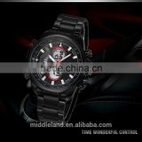 2015 High quality MIDDLELAND alloy case stainless steel strap quartz wrist watch men
