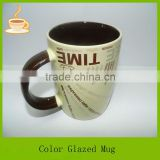 small popular design italian ceramic coffee mug factory, italian ceramic tea mug with customized logo